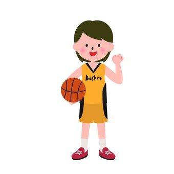 女孩的籃球