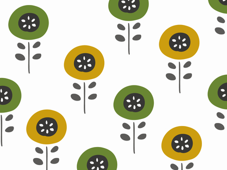 Nordic floral simple wallpaper pattern 77