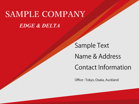 Business template red triangle edge