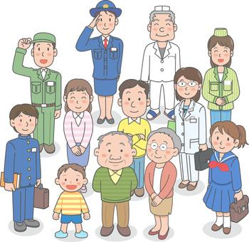 Illustration of elderly watching overnetwork