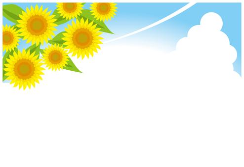 여름 하늘 배경