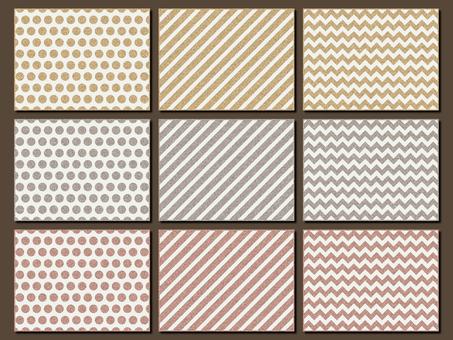 Gold silver pink gold polka dots streak lame
