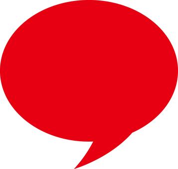 Speech ball red