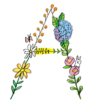 Flower text A