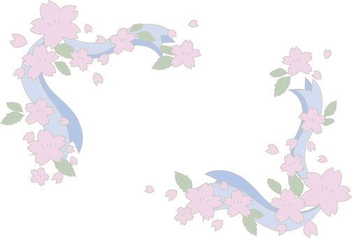 Sakura and ribbon decoration corner