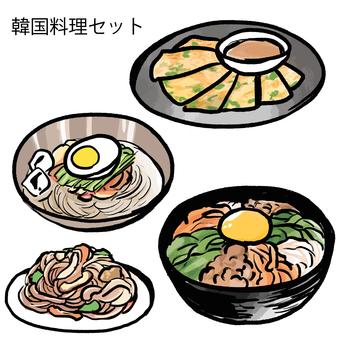 Korean food set
