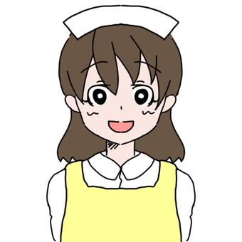 Apron nurse woman (smile)