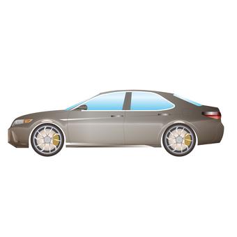 Illustration of a car luxury sedan