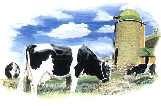 소 젖소 사일로