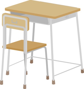 School desk and chair (after)