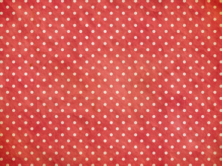 Vintage style dot (red)