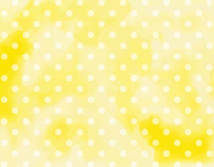 Watercolor background yellow × dot polka dots