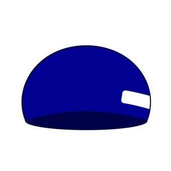 Blue swimming cap