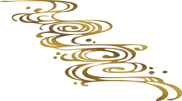 Water flower pattern (gold color · cool)