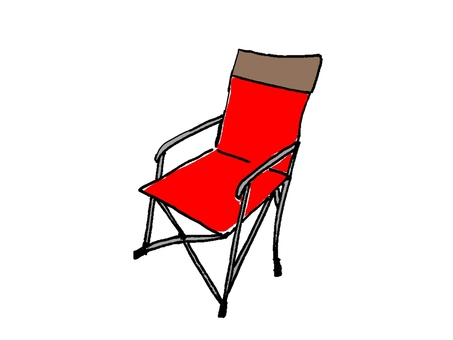 Outdoor chair red