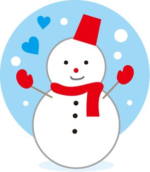 Snowman alone