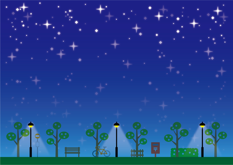Background (sky and walkway starry sky)