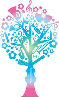 Music Tree Gradient Color