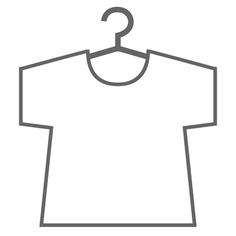 A plain white T-shirt on a hanger