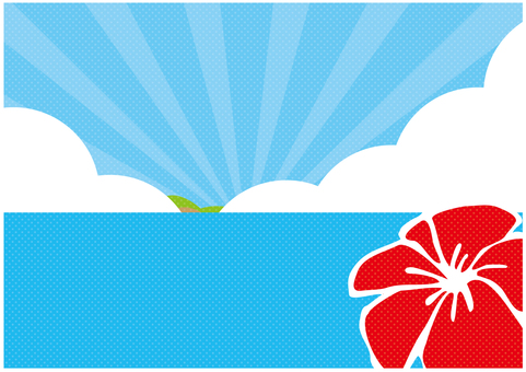 Background _ sky and sea _ hibiscus