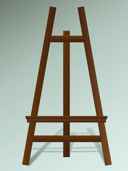 Easel dark brown with shadow