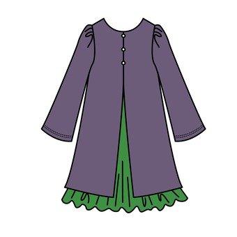 Purple & Green One Piece