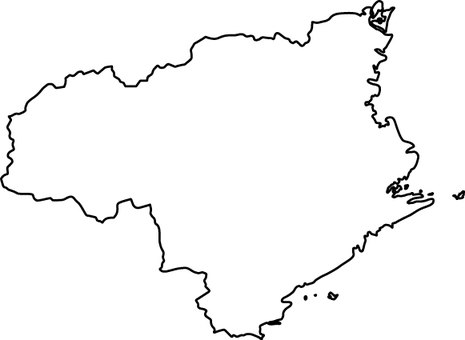 Tokushima Prefecture_ Line Drawing