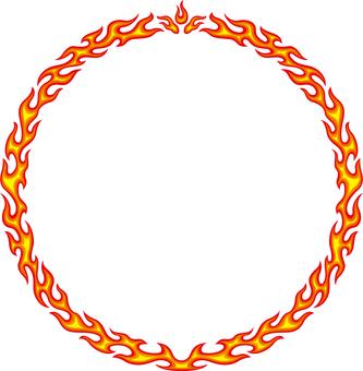Flame Frame Circle