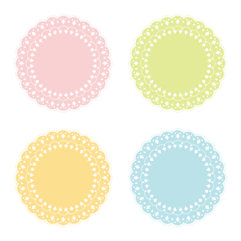 Lace round tag