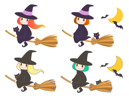 Witch variations on a Halloween broom
