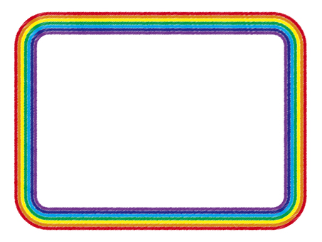 Rainbow frame _ 01 (color pencil wind)
