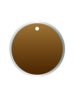 Round tag (brown)