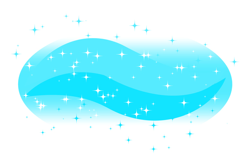 Glittering wave