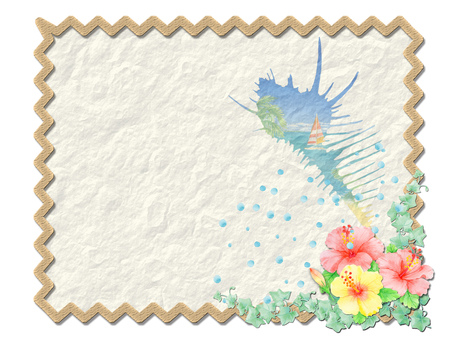 Wrinkle paper and sea ★ 0156-C