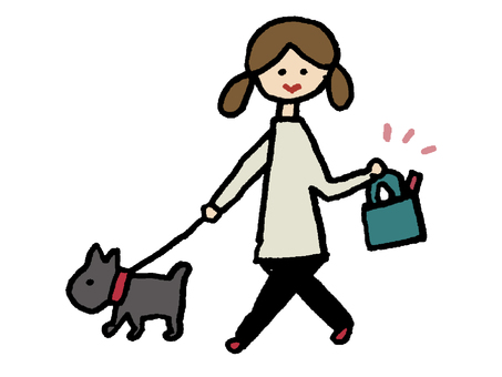 狗走路的顏色