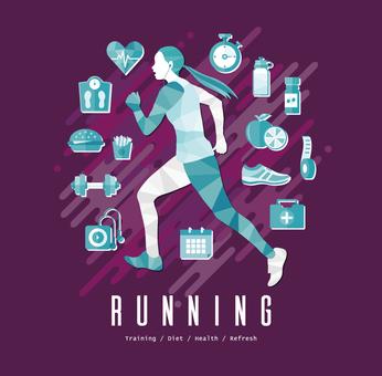 跑步有氧運動B.
