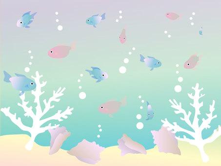 Pastel tropical fish