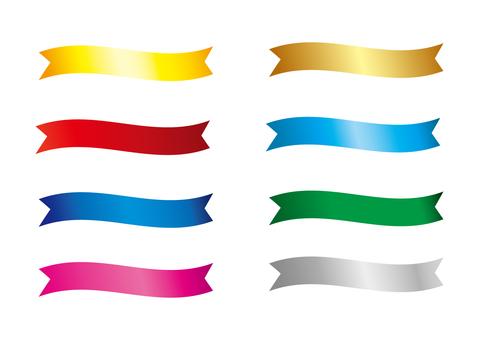 Banner _ ribbon each color _ Gradet