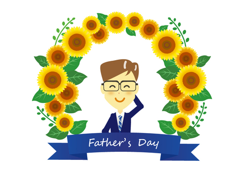 Sunflower frame ☆ Father's Day