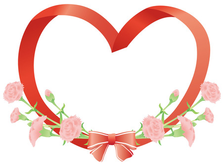 Carnation Ribbon Heart 02