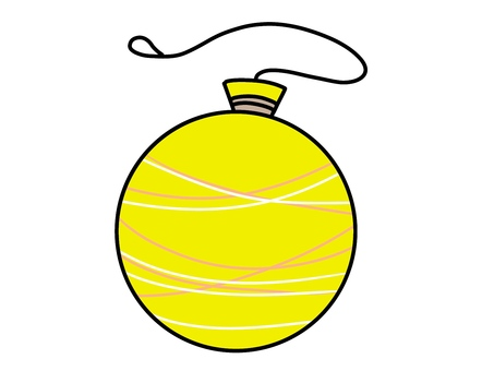Illustration 04 of a yellow water balloon for summer festival