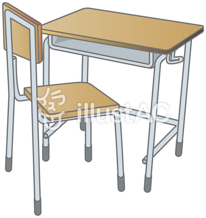 教室の机とイスイラスト No 51562無料イラストならイラストac