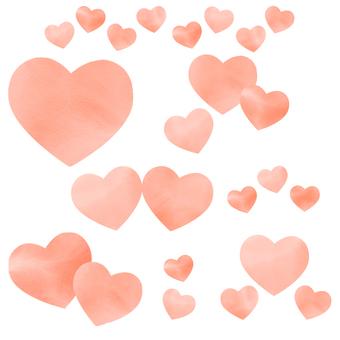 Tea colored watercolor heart