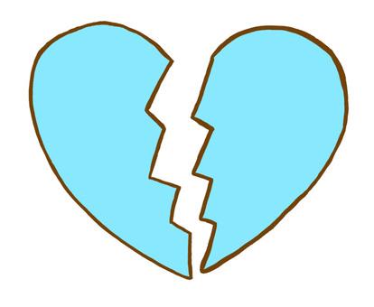 Lost love heart 1 Light blue