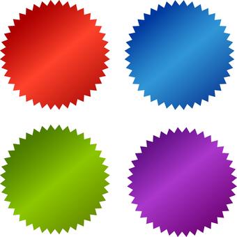 Color jagged label: RGB