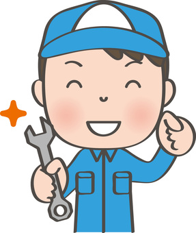 Worker male _ spanner