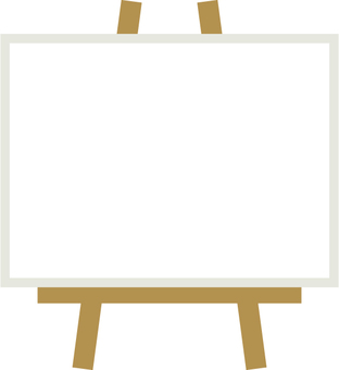 Easel _ white _ narrow