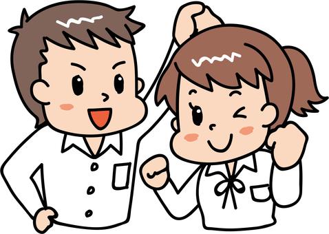 元気な男女/学生5