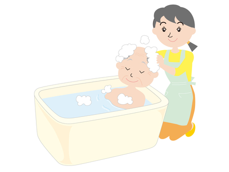 "Nursing care ""bathing"""
