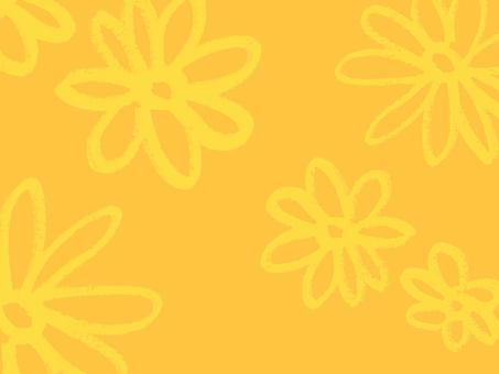 Hand-painted flower pattern Yellow